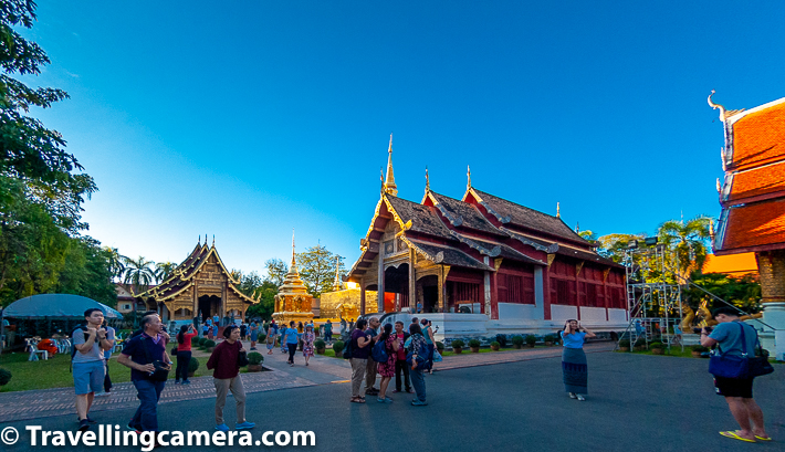 Related Blog-post : Kata Beach, Beach walks, Thai Food & lot more at Phuket || 10-Day Vacation in Thailand (Day 5)    Wat Phra Singh in Chiang Mai has an important Buddha statue - the Phra Buddha Sihing which gives the temple its name. It is believed that statue was based on the lion of Shakya, and this statue used to be in the Mahabodhi Temple of Bodh Gaya (India). The Phra Buddha Sihing statue is supposed to have been brought, via Sri Lanka, to Nakhon Si Thammarat and from there via Ayutthaya, to Chiang Mai.    Related Blogpost : Chiang Mai Nightlife - Some of the best & diverse experiences in Thailand