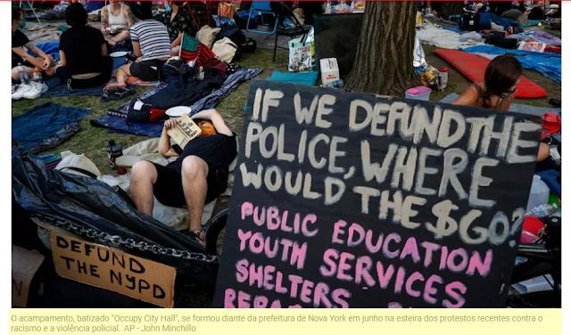 Acampamento contra racismo é desmantelado em Nova York após pressão de Trump