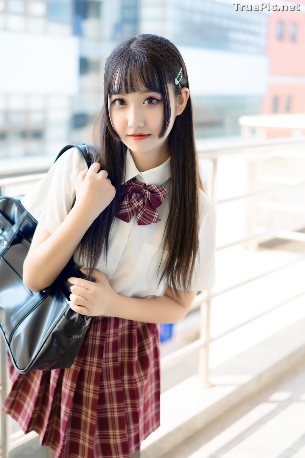 Image [MTCos] 喵糖映画 Vol.023 – Chinese Cute Model – Long Hair JK Girl - TruePic.net - Picture-6
