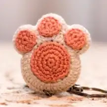 Llavero Huella de Perrito a Crochet