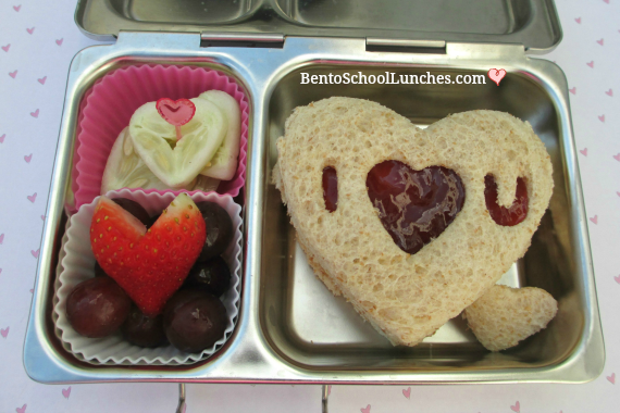 Linzer heart sandwich, Valentine's lunch