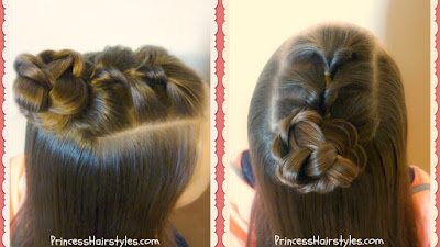 Topsy tail top knot hairstyle tutorial