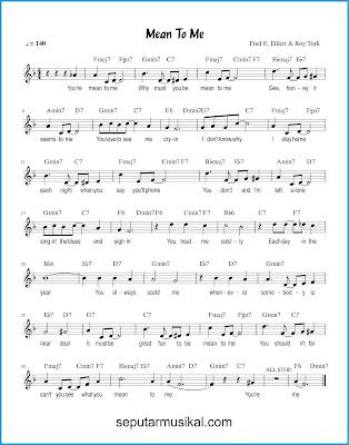 Mean To Me chords jazz standar