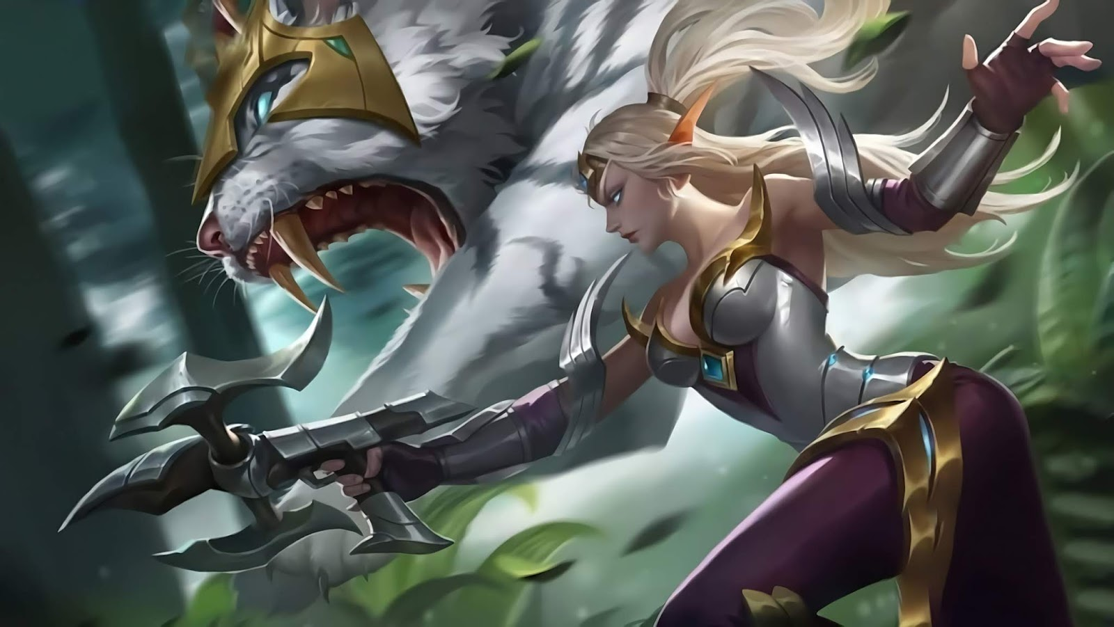 Wallpaper Irithel Silver Cyclone V1 Skin Mobile Legends HD for PC - Hobigame.net