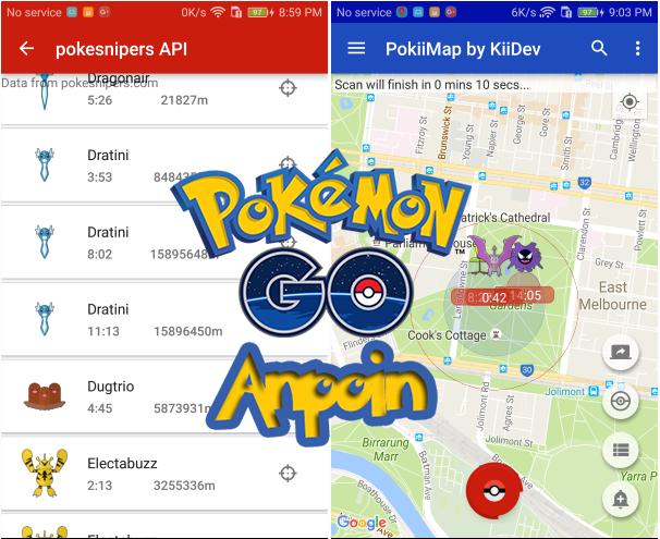 Cara Menggunakan Bot Pokiimap Pokemon GO di Android, Cara Menggunakan Snipe Pokiimap Pokemon GO di Android.