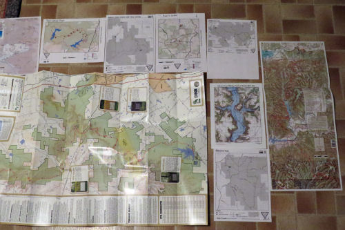 maps of Indiana trails