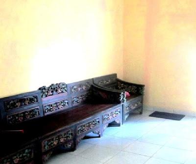 ruang santai di homestay hamfah karimunjawa
