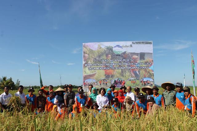 Panen Raya Sekolah Lapang Iklim Tahap III di Kalimantan Barat