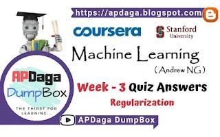 Coursera: Machine Learning (Week 3) Quiz - Regularization   Andrew NG