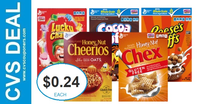 Never Pay Full Price for Cereal at CVS 1-24-1-30