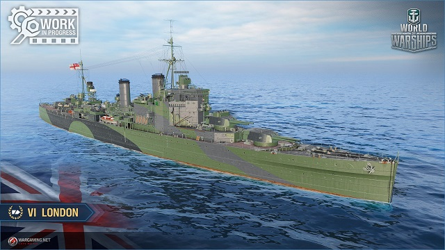 British cruiser London, tier VI