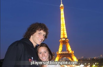 David Luiz and his girlfriend Sara Madeira