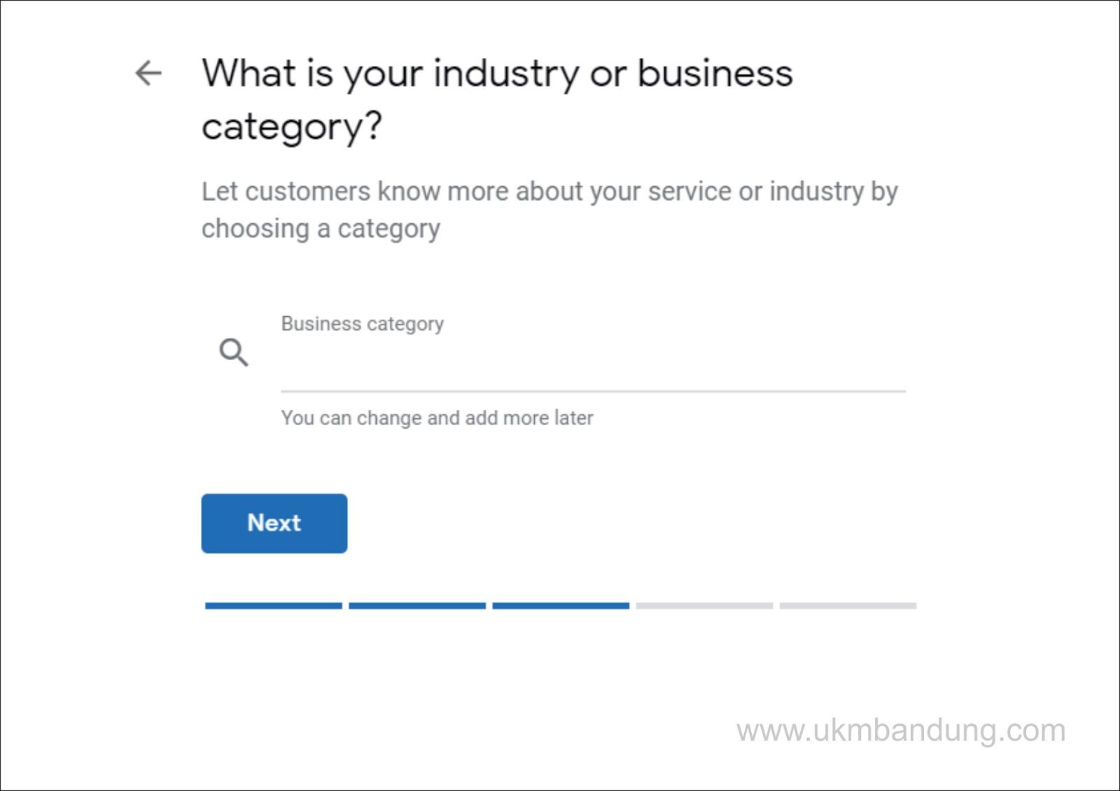 kita akan diperbolehkan mengubah kategori setelah nanti terverifikasi dengan kategori yang paling tepat.
