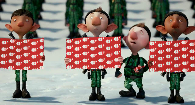 los elfos de la película de animación Arthur Christmas, Operación Navidad