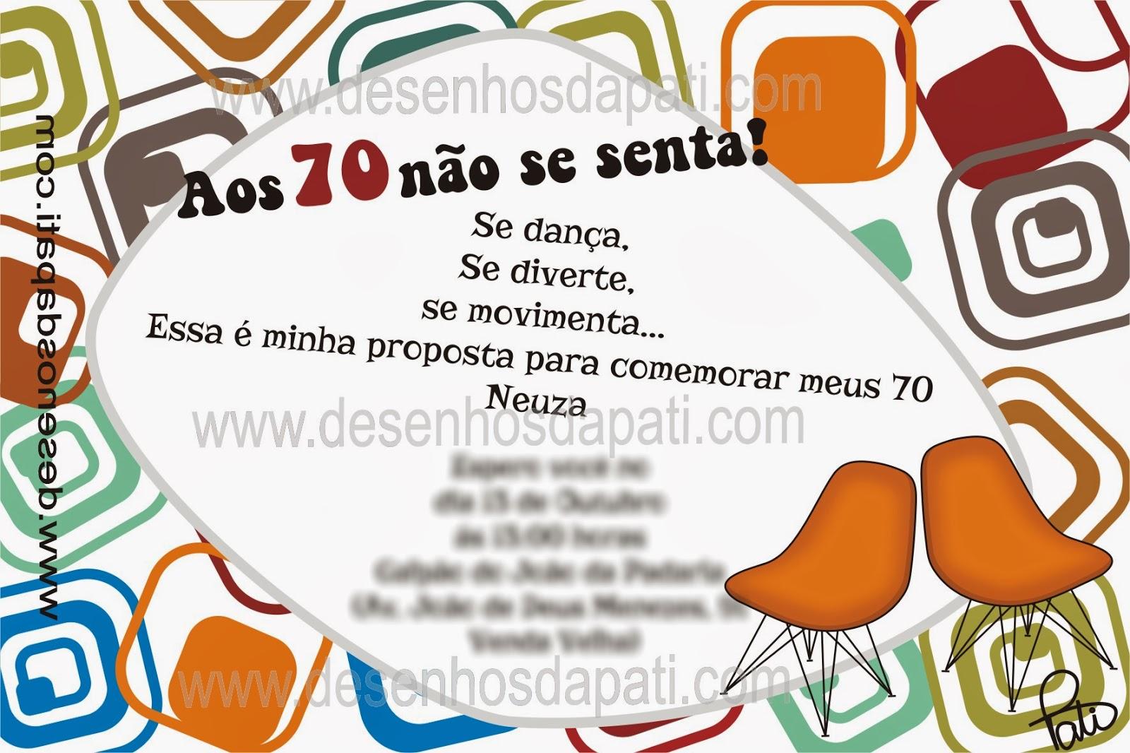 Mensagens De Aniversario 70 Anos: Frases Para Convite De 15 Anos