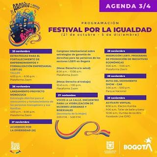 FESTIVAL POR LA IGUALDAD 2020 Agenda 3