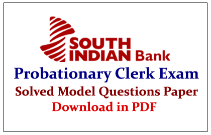 South Indian Bank Probationary Clerk Exam