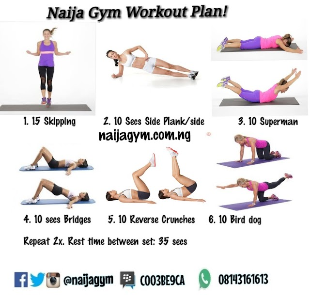 TGIF 22/02 Workout plan