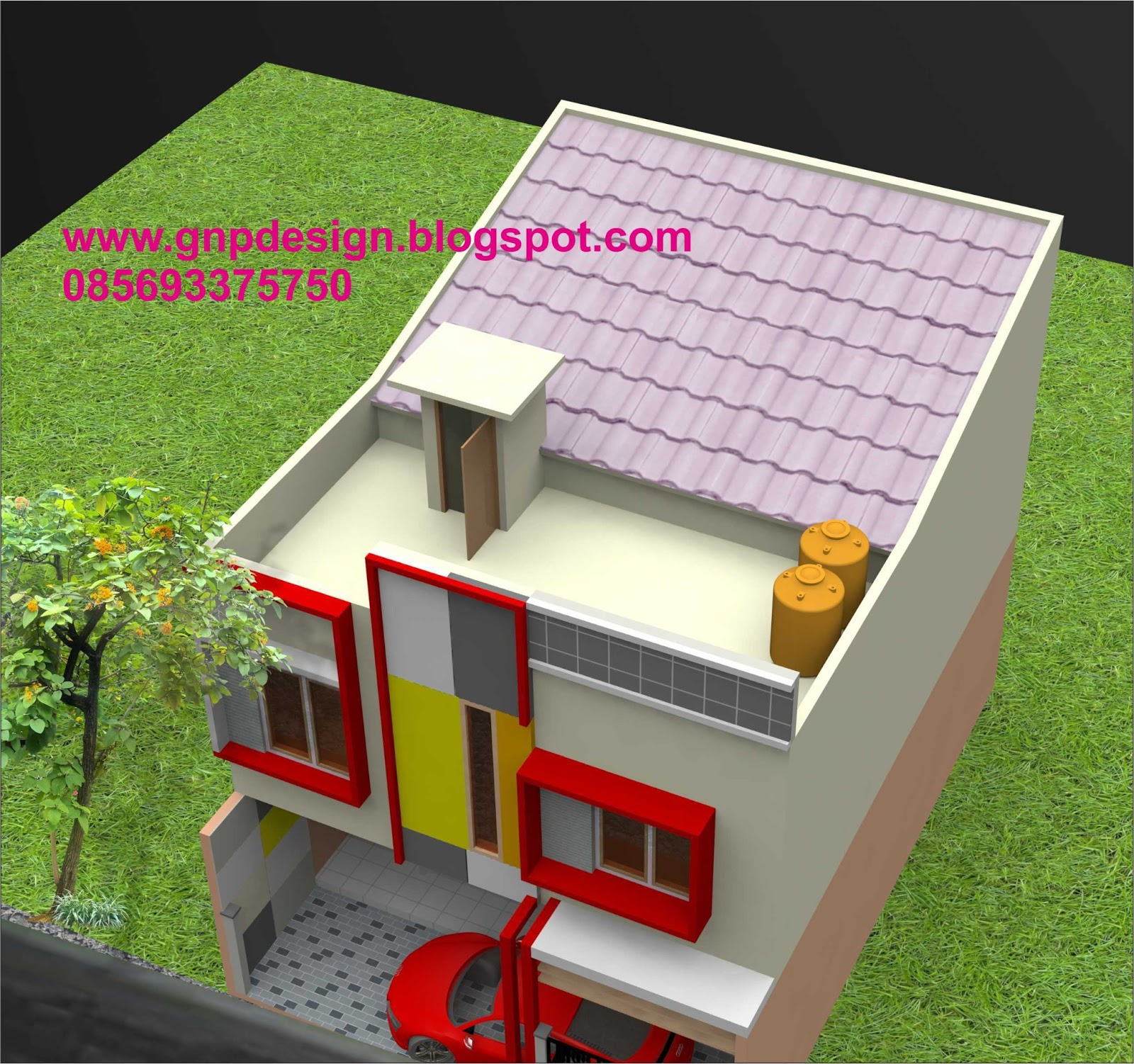 Gambar Denah Rumah Kontrakan 5 Pintu Ukuran Standar Jendela