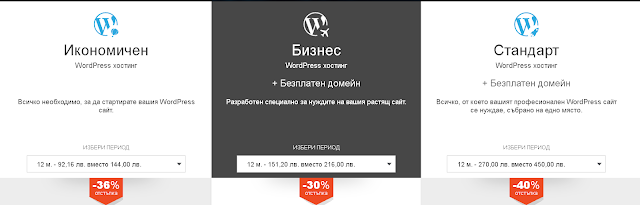 Word Press Хостинг от ICN.Bg с намаление с промо код