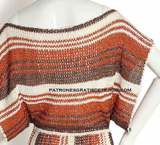 como tejer vestido étnico al crochet.