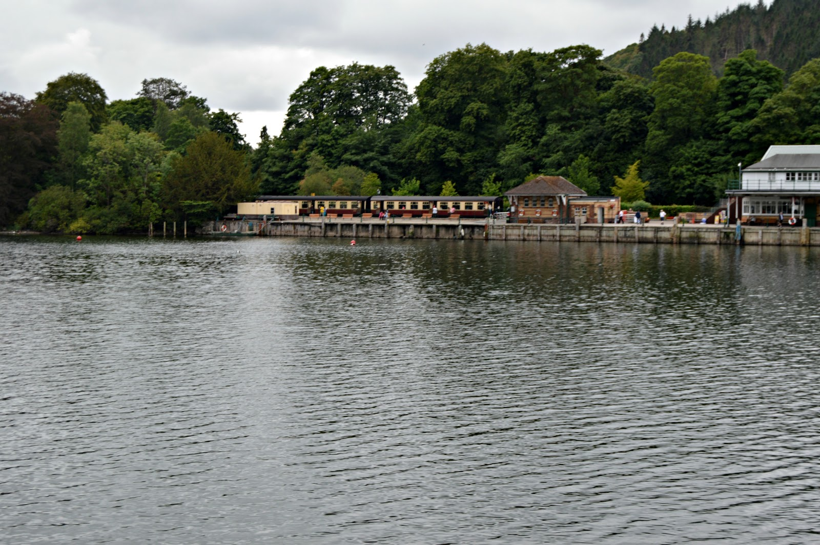 view from a boat on Lake Windermere