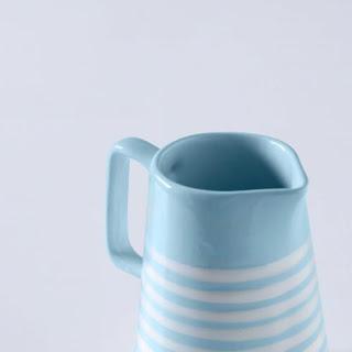 Ellementry stripes textured ceramic jug