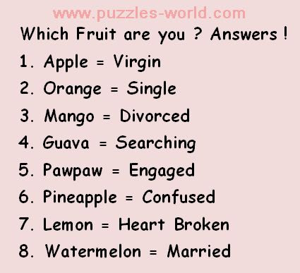 select a fruit answers