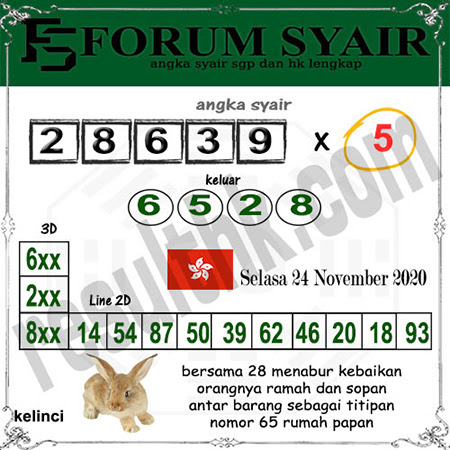 Forum Syair HK Selasa 24 November 2020