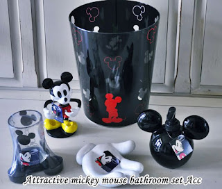 Attractive mickey mouse bathroom set accessories
