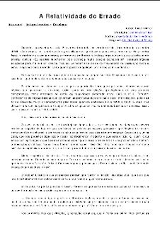 A Relatividade do Errado pdf