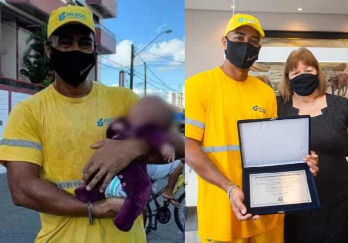 Gari herói salva bebê engasgado em SP e recebe homenagem - Portal Spy