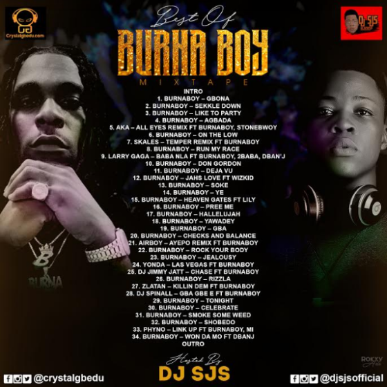 Mixtape] DJ SJS - Best Of Burna Boy Mix - Gbeduplot