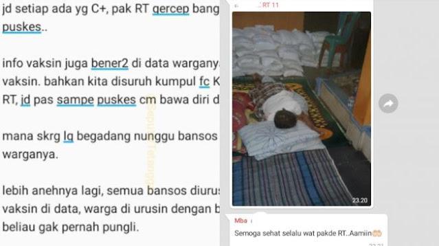Viral Kebaikan Ketua RT Urus Bansos Warga, Publik: Gue Sumpahin Jadi Mensos