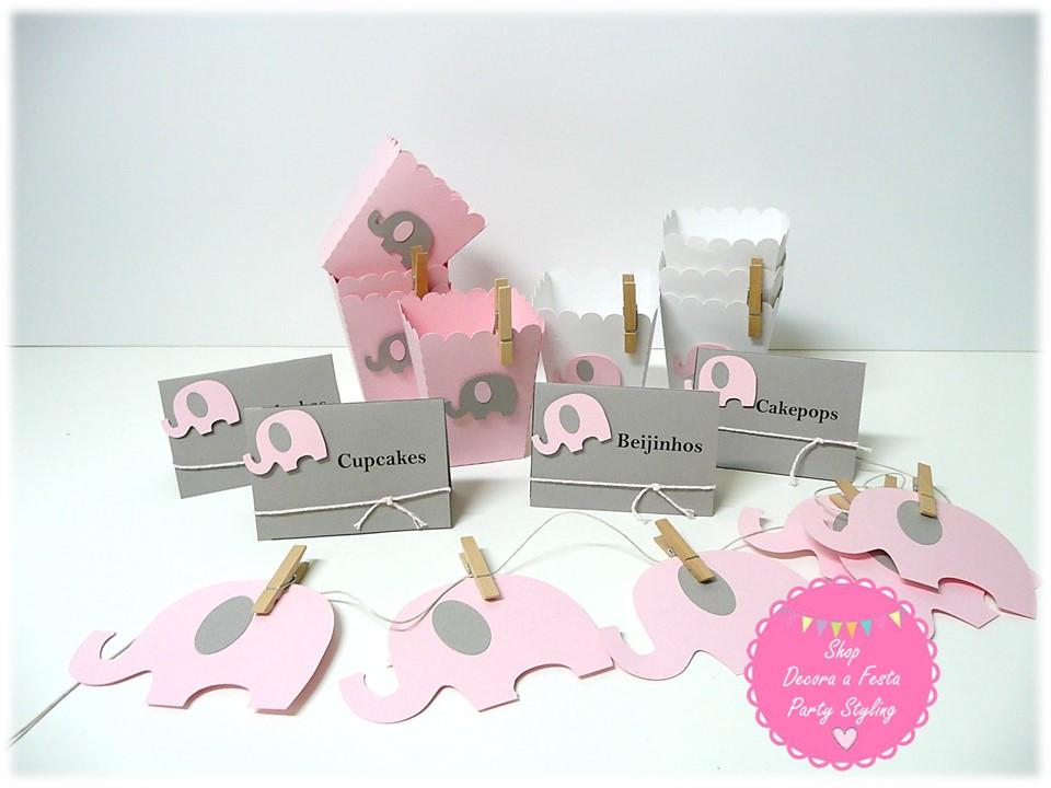 Baby Shower Elefante Rosado ~ Shop decora a festa: baby shower elefante rosa