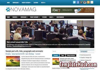 nova mag responsive blogger template