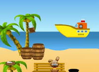 Juegos de Escape - Girl Escape With Boat