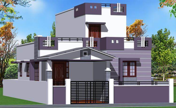 Single Floor Residence Elevation : House front elevation single story d design photo picture