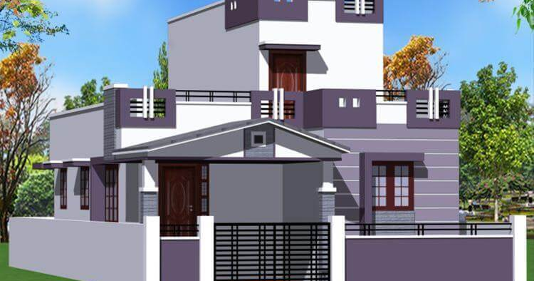 D Front Elevation Of School : House front elevation single story d design photo picture