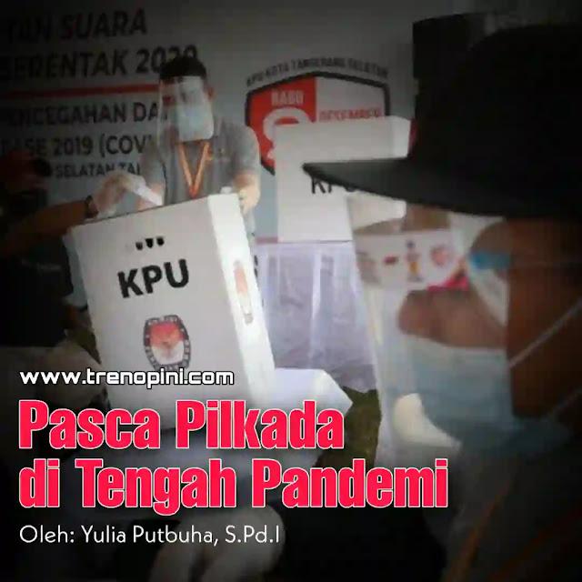 Pemilihan kepala daerah telah usai, lonjakan korban covid-19 kian meningkat. Data covid-19 sebelum Pilkada, 8 Desember 2020, tercatat 586.841 kasus positif COVID-19 terkonfirmasi di Indonesia