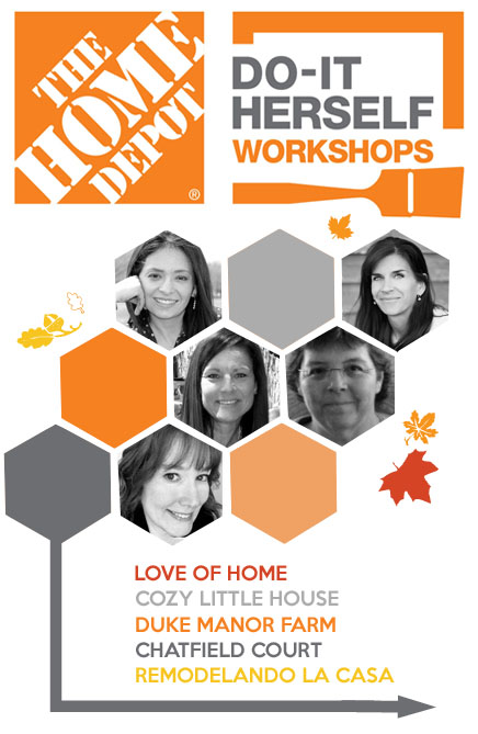 remodelando la casa and the home depot workshops, the team, orange and gray honeycomb design, ladies pictures