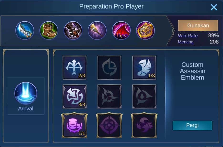 build badang mobile legends (ML)