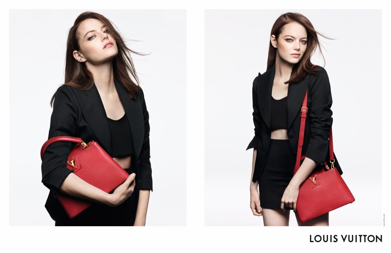 Emma Stone stars in Louis Vuitton handbag campaign with the Capucines style