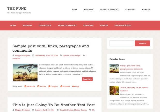 The funk blogger template premium free
