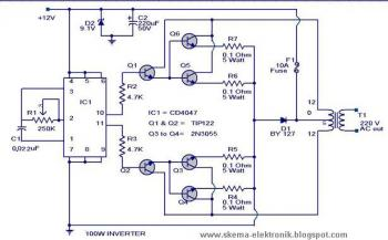 Onduleur 100 Watt 12V DC à 220V AC