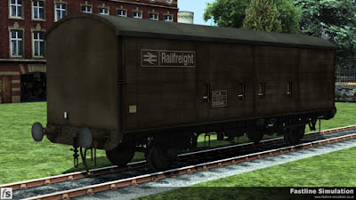 Fastline Simulation: An example of one of the later built examples of VCA van in faded freight brown livery.