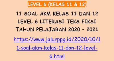11 Soal AKM Kelas 11 dan 12 Level 6 Literasi Teks Fiksi Tahun Pelajaran 2020 - 2021