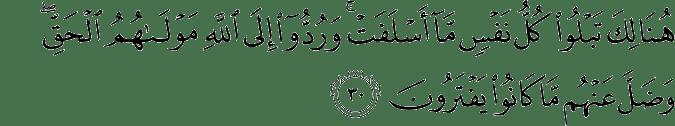 Surat Yunus Ayat 30
