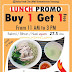 Promo DUCK HOUSE SALSA FOOD CITY  Lunch promo BUY 1 GET 1 di SUMMARECON MAL SERPONG
