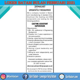 Lowongan Kerja PT. Dynacast Indonesia